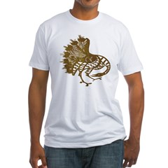 Distressed Tribal Peacock Shirt