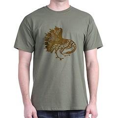 Distressed Tribal Peacock T-Shirt