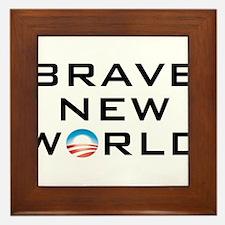 Brave New World Framed Tile