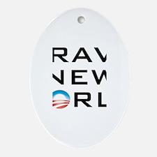 Brave New World Oval Ornament