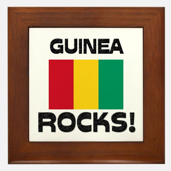 Guinea Rocks! Framed Tile