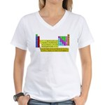 Periodic Table of Elements Women's V-Neck T-Shirt