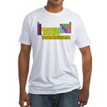 Periodic Table of Elements Fitted T-Shirt