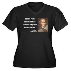 Voltaire 17 Women's Plus Size V-Neck Dark T-Shirt