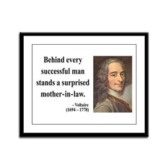 Voltaire 17 Framed Panel Print