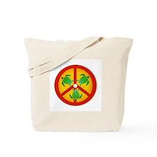 Turtle Peace Sign Tote Bag