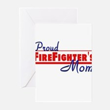 Proud Firefighter Mom Greeting Cards (Pk of 10)