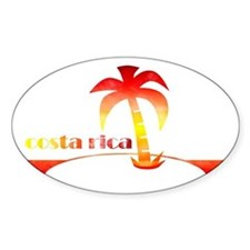 1970's Costa Rica Souvenir De Oval Decal