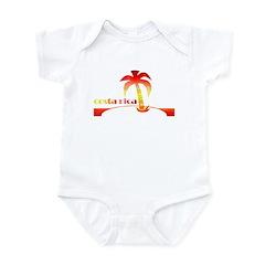 1970's Costa Rica Souvenir De Infant Bodysuit