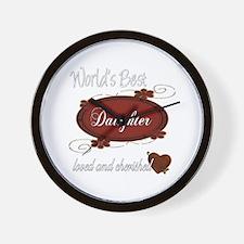 Cherished Daughter Wall Clock