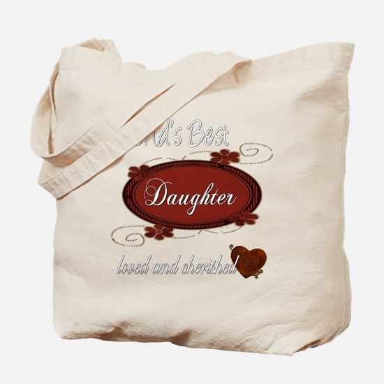 Cherished Daughter Tote Bag