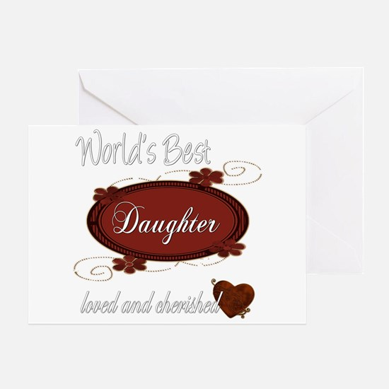 Cherished Daughter Greeting Card