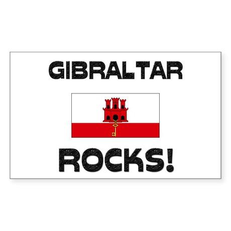 Gibraltar Rocks! Rectangle Sticker