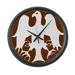 Tribal Eagle Large Wall Clock