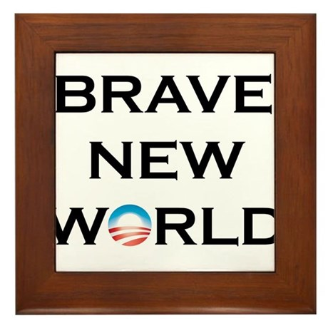 Brave New World Framed Tile