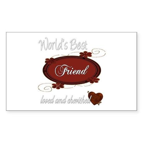Cherished Friend Rectangle Sticker 10 pk)