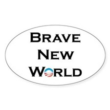 Brave New World Oval Decal