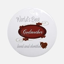 Cherished Godmother Ornament (Round)
