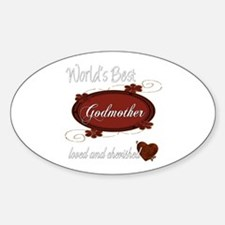 Cherished Godmother Oval Decal