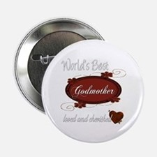 "Cherished Godmother 2.25"" Button"