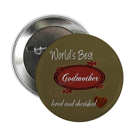 "Cherished Godmother 2.25"" Button (10 pack)"