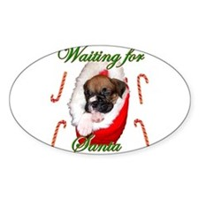 Waiting for Santa Boxer Puppy Decal