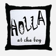 Holla Throw Pillow