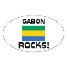 Gabon Rocks! Oval Decal