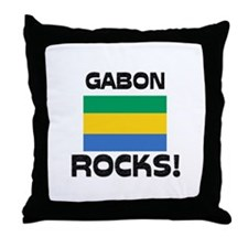 Gabon Rocks! Throw Pillow