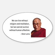 Dalai Lama 21 Oval Decal