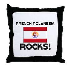 French Polynesia Rocks! Throw Pillow