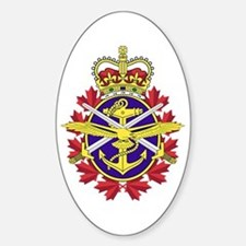 Canadian Forces Logo Sticker (Oval)
