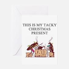 tacky christmas present Greeting Card