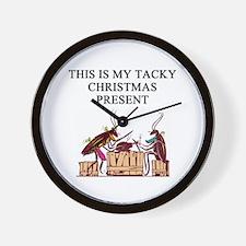 tacky christmas present Wall Clock