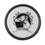 Greyhound Large Wall Clock