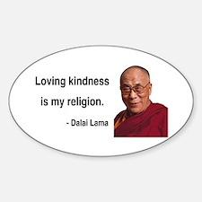 Dalai Lama 22 Oval Decal