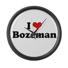 I love Bozeman Large Wall Clock