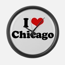 I love Chicago Large Wall Clock