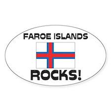 Faroe Islands Rocks! Oval Decal