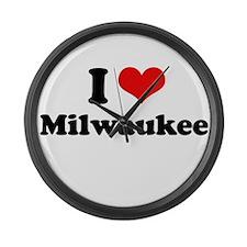 I love Milwaukee Large Wall Clock