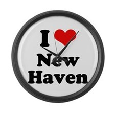 I love New Haven Large Wall Clock