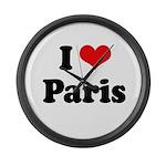I love Paris Large Wall Clock