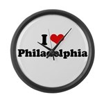 I love Philadelphia Large Wall Clock