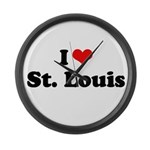 I love St. Louis Large Wall Clock