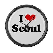 I love Seoul Large Wall Clock