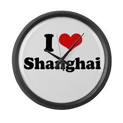 I love Shanghai Large Wall Clock