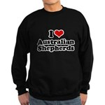 I Love Australian Shepherds Sweatshirt (dark)