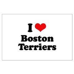 I heart Boston Terriers Posters