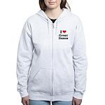I Love Great Danes Women's Zip Hoodie