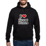 I Love Great Danes Hoodie (dark)